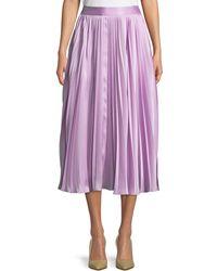 Co. - Pleated A-line Midi Skirt - Lyst