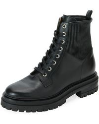 Gianvito Rossi - Lugged Leather Hiking Boot - Lyst
