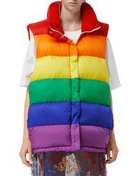 Burberry - Rainbow Shell-down Gilet - Lyst
