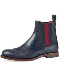c0962ac7afab Gucci - Strand Hammered Leather Chelsea Boot W web - Lyst