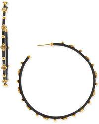 Armenta - Diamond Cravelli Cross Large Hoop Earrings - Lyst