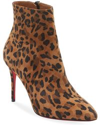 07e42559ab0 Christian Louboutin Clemence Botta Red Sole Boots in Black - Lyst