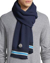 Moncler - Sciarpa Wool Knit Scarf - Lyst