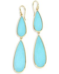 Ippolita - 18k Rock Candy Double-drop Turquoise Earrings - Lyst