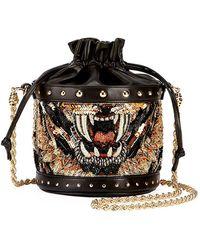 Balmain | Renaissance Tiger Party Chain Bucket Bag | Lyst