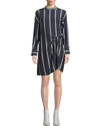 Rag & Bone - Navy Stripe Jacklyn Silk Dress - Lyst
