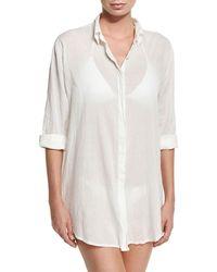 Letarte - Button-front Beach Shirt - Lyst
