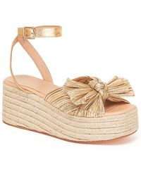 Loeffler Randall - Pleated Knot Espadrilles Gold - Lyst