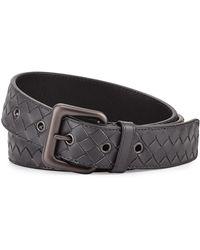 Bottega Veneta - Intrecciato Woven Buckle Belt - Lyst