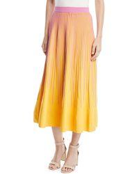 10 Crosby Derek Lam - Striped Knit A-line Skirt - Lyst