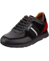 Bally - Men's Aston New Leather Sneakers W/ Trainspotting Stripe - Lyst