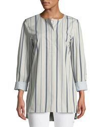 Lafayette 148 New York - Tilly Sonoran Striped Blouse - Lyst