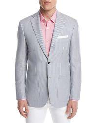 Kiton - Striped Cashmere Two-button Sport Coat - Lyst