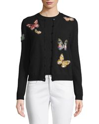 Valentino - Butterfly-embroidered Button-front Wool-cashmere Cardigan Set -  Lyst 4ab2c0953