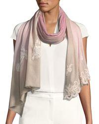 Bindya - Wool-silk Lace Scarf - Lyst