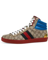 e119e6c469e66 Lyst - Gucci GG Supreme High-top Sneaker in Black for Men