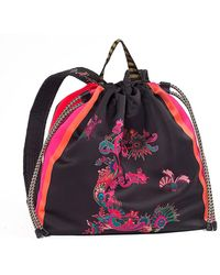 Etro - Printed Fabric Backpack - Lyst