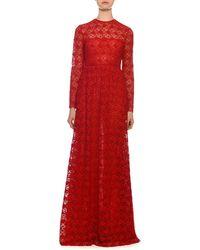 Valentino - Lace Maxi Dress - Lyst
