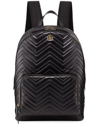 93f98c536a54 Gucci - Men s GG Marmont Quilted Leather Backpack - Lyst