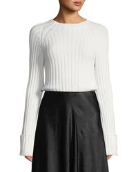 Vince - Cuffed Mock-neck Wool-cashmere Jumper - Lyst
