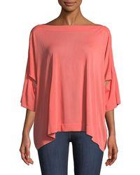 Agnona - Boat-neck Oversized Pullover Knit Blouse - Lyst