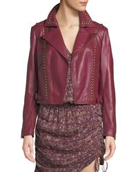 Ramy Brook - Yomo Studded Leather Moto Jacket - Lyst