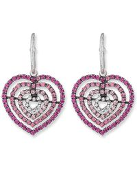 DANNIJO - Constance Heart Earrings - Lyst