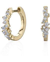 Sydney Evan - 14k Gold Diamond Huggie Hoop Earrings - Lyst