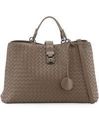 Bottega Veneta - Milano Woven Leather Tote Bag - Lyst
