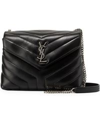 1d3914cf433 Saint Laurent - Loulou Monogram Ysl Small Y-quilted Leather Chain Bag - Lyst