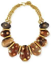 Ashley Pittman - Lipua Mixed Horn Collar Necklace - Lyst