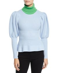 Novis - Abbott Colorblocked Puff-sleeve Jumper - Lyst