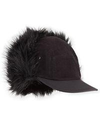 Sacai | The North Face® Faux-fur Baseball Cap | Lyst