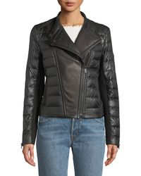 Bogner - Amy Down-filled Puffer Moto Jacket - Lyst
