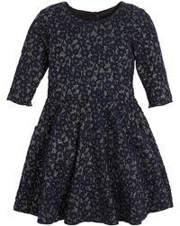 Zoe - Mimi Metallic Knit Swing Dress - Lyst