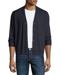 Brunello Cucinelli | Cashmere-blend Button-front Cardigan | Lyst