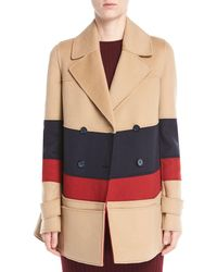 Gabriela Hearst - Leon Double-breasted Colorblocked Cashmere Pea Coat - Lyst