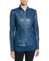 Lafayette 148 New York - Courtney Lambskin Leather Jacket - Lyst
