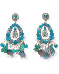 Ranjana Khan Genevieve Beaded Statement Earrings thHp39GR