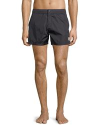 Moncler - Swim Trunks With Contrast Piping - Lyst