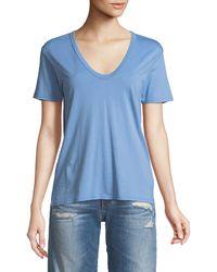 AG Jeans - Henson V-neck Cotton Tee - Lyst