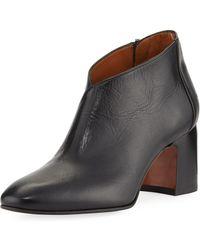 Aquatalia - Elodina Leather Block-heel Boot - Lyst