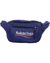 Balenciaga - Nylon Fanny Pack With Political Campaign Logo - Lyst