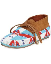 Figue - Wolf Beaded Flat Moccasin - Lyst