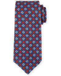 Kiton - Medallion-print Silk Tie - Lyst