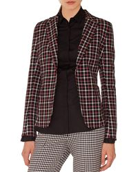 Akris Punto - Single-breasted Notched-lapel Check Blazer - Lyst