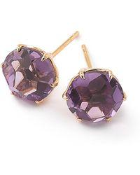 Ippolita   18k Rock Candy Amethyst Stud Earrings   Lyst