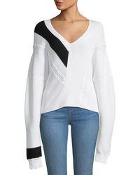 Rag & Bone - Cricket V-neck Long-sleeve Knit Sweater - Lyst