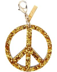 Edie Parker - Peace Sign Speckled Bag Charm - Lyst