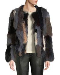 Belle Fare - Multicolour Fox Fur Jacket - Lyst